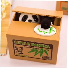 Hot Cute Stealing Coin Money Box LITTLE PANDA Piggy Bank Storage Saving Box FE