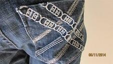 NWT BEBE CHARLOTTE EMBROIDER CROP JEANS SIZE 29
