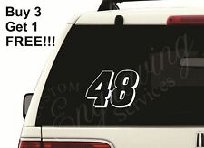 "48 JIMMIE JOHNSON NASCAR (5""X3.5"") CAR WINDOW DECAL STICKER TRUCK LAPTOP JEEP"