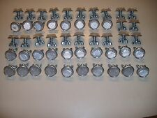 """50 Silver Goliath Tool Mini Bicycle Reflectors 7/8"""" Diameter with Wing nuts"""