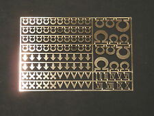 Warhammer 40,000 Ultramarine Space Marine Chapter & Squad Symbols Brass Etch
