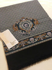 "Russian Pavlovo-Posad Mens Scarf ""Champagne""100% Wool 27x140cm/11""x55""Light Grey"