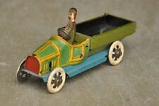 Vintage Fine Penny / Miniature Litho Pick Up Truck / Lorry With Driver Tin Toy