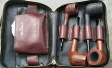 *Etienne Aigner* Leather Pipe Pouch for 4 Dunhill or other Pipes w/ compartments