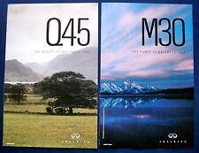 Prospekt brochure 1990 Infiniti M30 + Q45  (USA)