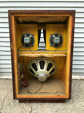 Vintage 1960's Jensen Speakers in Large Speaker Cabinet Custom Karlson coupler