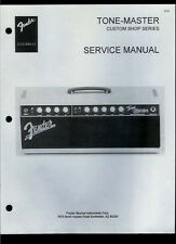 Copy Fender Tone-Master Custom Shop Guitar Amplifier Parts List & Schematic(s)