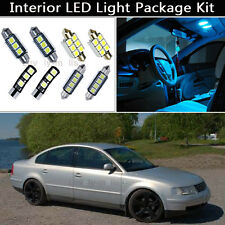 16PCS Ice Blue Canbus LED Interior Lights Package kit Fit 1998-2000 VW Passat J1