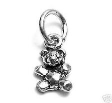 925 Sterling Silver 3D Small Teddy Bear Charm