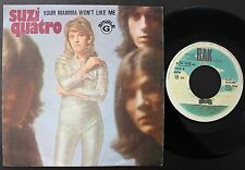 SUZI QUATRO SINGLE MADE IN PORTUGAL 45 PS 7 *YOUR MAMMA WON´T LIKE ME*