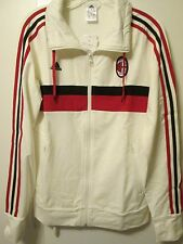 $65 Adidas AC Milan Training Jacket White Soccer Futbol Women's M (Men's S) NWT