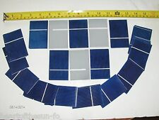 "50 solar cells  2"" x 3""(51mmX76mm) .5 V x  1.2 A  = 21 watts diy solar panels"