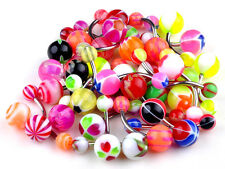 CHIC Wholesale Lot 30pcs 14G Belly Button Navel Ring Piercing Jewelry