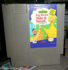Sesame Street: Big Bird's Hide & Speak (Nintendo) NES
