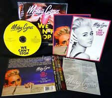 Taiwan CD w/OBI + Postcards NEW! MILEY CYRUS WE CAN'T STOP (Instrumental)