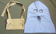 WWI BRITISH  SMOKE PH HOOD/P HELMET CARRY BAG