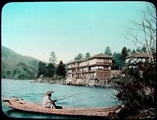 TAKAGI Glass Magic Lantern Slide LAKE CHUZENJI C1920 JAPAN PHOTO JAPANESE