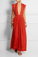 ISABEL MARANT MICK MAXI RED  DRESS FR 38 UK 8/10 IT 40/42 US 4/6