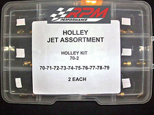 Holley Carburetor 1/4-32 GAS MAIN JETS ASSORTMENT KIT 70-79 2 EACH 20PACK 70-2