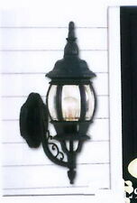 Midnight Blue With Clear Beveled Glass Exterior Wall Light