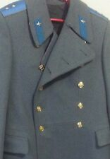 Soviet Russian Military Officer Uniform Mens Trench Coat Wool USSR BOEHTOPR Vtg