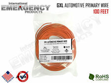 100' FEET 18 AWG GXL AUTOMOTIVE WIRE STRANDED HIGH TEMP GAUGE COLOR ORANGE