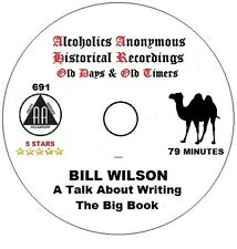 Alcoholics Anonymous AA Speaker CD - Bill W on Writing the Big Book