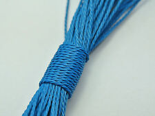 50 Meters Turquoise Blue Waxed Polyester Twisted Cord String Thread Line 1mm