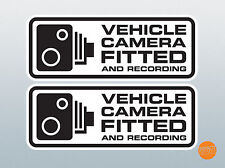 2 X Vehicle Dash Cam Sticker 145x56mm / Camera Fitted Warning Sticker