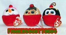 Gelato, Flakes & Coco Baby Ty Baby Beanies Set of 3 Ornaments - MWMT - FREE SHIP