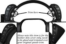 Black stitch fits CORVETTE C6 2005-2013 2x Dash gousses cuir wraps couvre uniquement