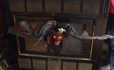 HALLOWEEN GEMMY HANGING ANIMATED LIGHTED FLYING VAMPIRE BAT FIGURE SOUNDS PROP