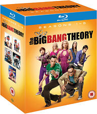 The Big Bang Theory Staffeln 1 2 3 4 5, 10 Blu Ray Box, NEU & OVP