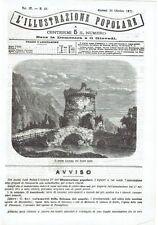 1871 Illustrazione Popolare: Veduta Il Ponte Lucano sul fiume Anio