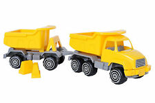 Plasto 52 CM City Works Truck and Trailer Ages 3+ Toy Boys Girls Gift Fun Happy
