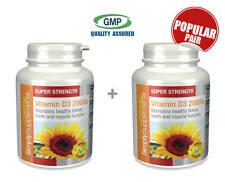 Simply Supplements Vitamin D3 2000iu 120+120 Tablets | Bundle Deal (E488488)
