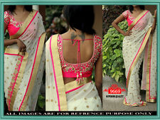 INDIAN ETHNIC BOLLYWOOD REPLICA SAREE PARTY WEAR DESIGNER BLOUSE SARI