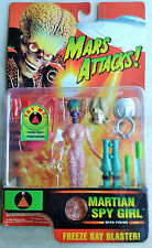 MARS ATTACKS TALKING MARTIAN SPY GIRL FIGURE.1996 IN UNOPENED PACK ONLY £11.99.