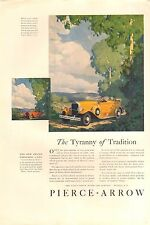 1930 PIERCE ARROW OPEN LIMO  CAR AD - ORIG VIN PRINT AD