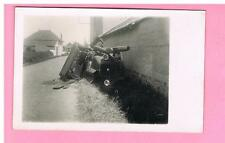 CPA  - CARTE PHOTO-  ROANNE - 42 - ACCIDENT DE VOITURE DE MONSIEUR GIMEL  N°1