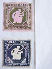 2258 Kaiser Borax 2 Reklamemarken i Art von Briefmarken farbigem Prägedruck