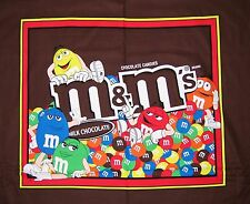 M&M Fabric Panel - Chocolate Candy Wallhanging Quilt Brown - Springs Cotton