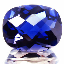 2.74 CT  IOLITE, CUSHION CHECKER CUT, EXTREMELY FINE, UNHEATED/UNTREATED, MINED