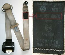 VW Golf Mk4 Seat Belt Beige O/S/R Drivers Side Rear Hatchback 1J6 857 806 C