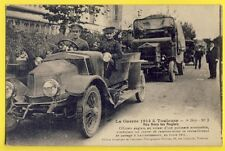 cpa 31 - Rare TOULOUSE Guerre 1914 BRITISH OFFICER Automobile à LACOURTENSOURT