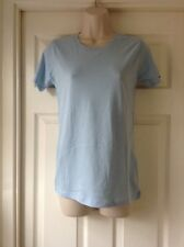 Earth Positive, Organic, Climate Neutral, Sky Blue Short Sleeve T-Shirt, Size XS