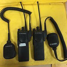 Lot of 2 Motorola XTS 3000 Digital Handie-Talkie Radio HO9UCC9PW5BN