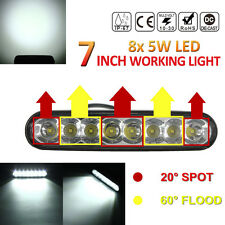 7Inch 4000LM 40W 8X CREE Car LED Light Bar Combo Beam ATV Offroad 4WD Work Lamp