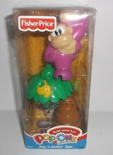 Fisher Price Pop-Onz Building System Brand New Age 1 1/2+ Pop 'N Action Ape