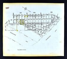 1929 Brooklyn Map Gravesend Bay West Shore Egolf Avenue Bay Street New York City